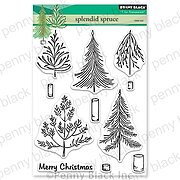 Splendid Spruce - Christmas Penny Black Clear Stamp