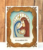 Heaven's Gift Nativity Mini - Christmas Clear Stamp