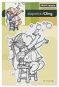 Bubble Girl - Slapstick Cling Rubber Stamp