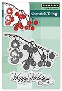 Berry Merry Christmas - Slapstick Cling Rubber Stamp