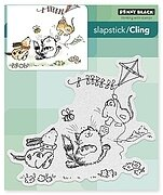 Furry Flight - Slapstick Cling Rubber Stamp