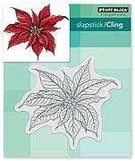 Christmas Poinsettia - Cling Rubber Stamp