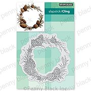 Conifer Wreath - Slapstick Cling Rubber Stamp