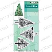 Saplings - Christmas Slapstick Cling Rubber Stamp