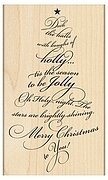Caroling Tree - Christmas Rubber Stamp