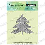 Folk Art Christmas Tree - Penny Black Craft Die