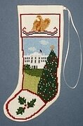 White House Stocking Ornament - Cross Stitch Kit