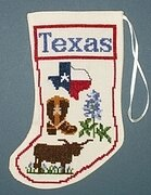 Texas Stocking Ornament - Cross Stitch Kit