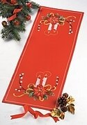 Christmas Candles Table Runner - Cross Stitch Kit