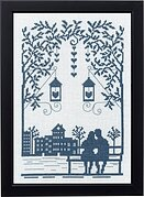 Couple on a Bench - Cross Stitch Kit