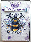 Bee-utiful (Beautiful) - A5 Clear Stamp