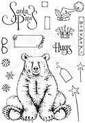 Bear Hugs - Pink Ink Designs Christmas Clear Stamp