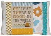 Good in the World Pillow - Cross Stitch Kit