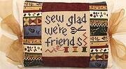 Sew Glad We're Friends Pillow - Cross Stitch Kit