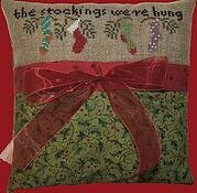 The Stockings Were Hung Pillow - Cross Stitch Kit