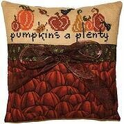 Pumpkins a Plenty Pillow - Cross Stitch Kit