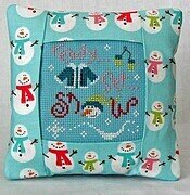 Ready Set Snow Pillow Kit - Cross Stitch Kit