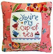 You're My Cup of Tea Pillow Kit - Cross Stitch Kit