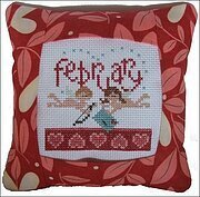 February 2011 Small Pillow Kit - Cross Stitch Kit