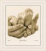 Baby Feet - Birth Announcement - Cross Stitch Kit
