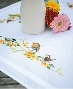 Songbirds - Tablecloth - Cross Stitch Kit