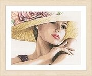 Lady with Hat - Cross Stitch Kit