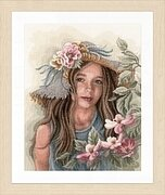 Little Girl With Hat - Cross Stitch Kit