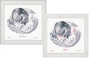 Sleeping Baby Birth Announcement - Cross Stitch Kit