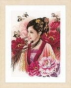 Asian Lady in Pink - Cross Stitch Kit