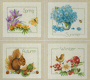 4 Seasons (set of 4) - Cross Stitch Kit