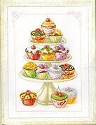 Cupcakes - Cross Stitch Kit