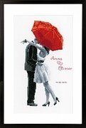 Under My Red Umbrella - Cross Stitch Kit