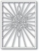 Stained Glass Snowflake Window - Winter Craft Die