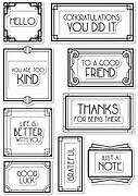 Art Deco Frames and Phrases - Poppystamps Clear Stamp Set