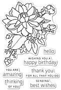Peony Bouquet - Poppystamps Clear Stamp Set