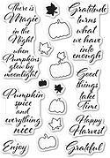Pumpkin Patch - Poppystamps Clear Stamp Set