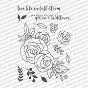 Ella's Garden Rose Bouquet - Paper Rose Clear Stamp