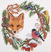 Winter Wreath - Cross Stitch Kit