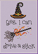 Drive a Stick - Cross Stitch Pattern