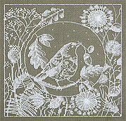 White Lace. Bird - Cross Stitch Kit
