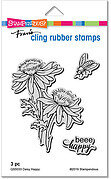 Daisy Happy - Cling Rubber Stamp