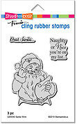 Santa Wink - Christmas Cling Rubber Stamp
