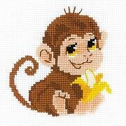 Monkey - Cross Stitch Kit
