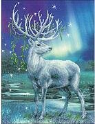 White Stag - Cross Stitch Kit