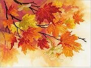 Autumn Colors - Pre-Printed Cross Stitch Kit