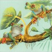 Frogs - Cross Stitch Kit