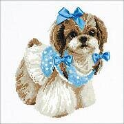 Shih Tzu Dog - Cross Stitch Kit
