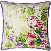 Pastel Bindweed Cushion - Cross Stitch Kit