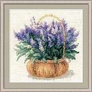 French Lavender Flowers - Cross Stitch Kit