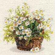 Russian Daisies Flowers - Cross Stitch Kit